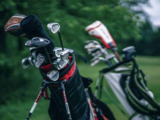 Nærbilde av golfutstyr