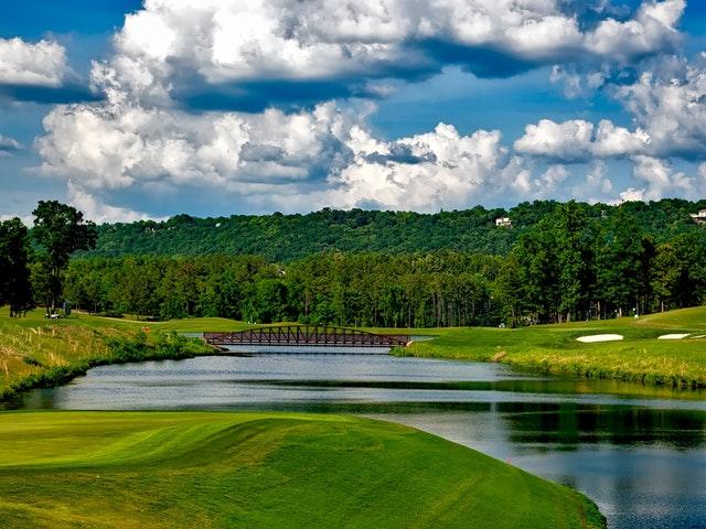 En nydelig golfbane.